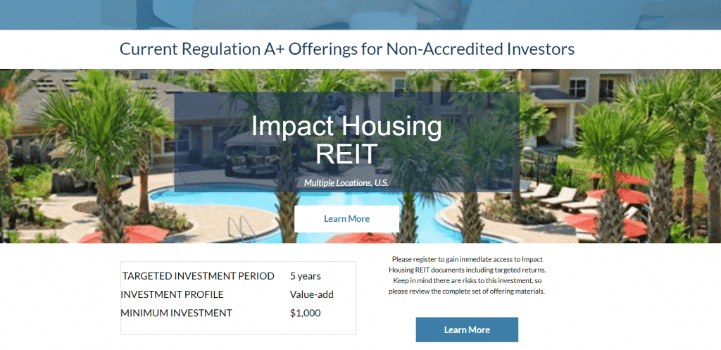 REITs for non-accredited investors - Impact Housing REIT