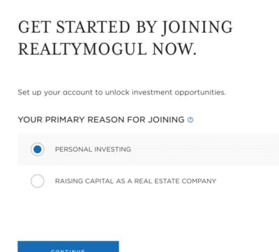 Start investing on RealtyMogul