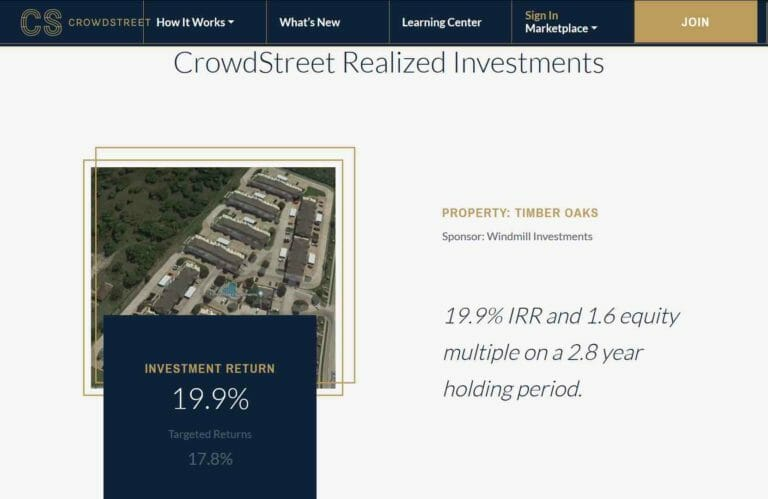 crowdstreet realized deals