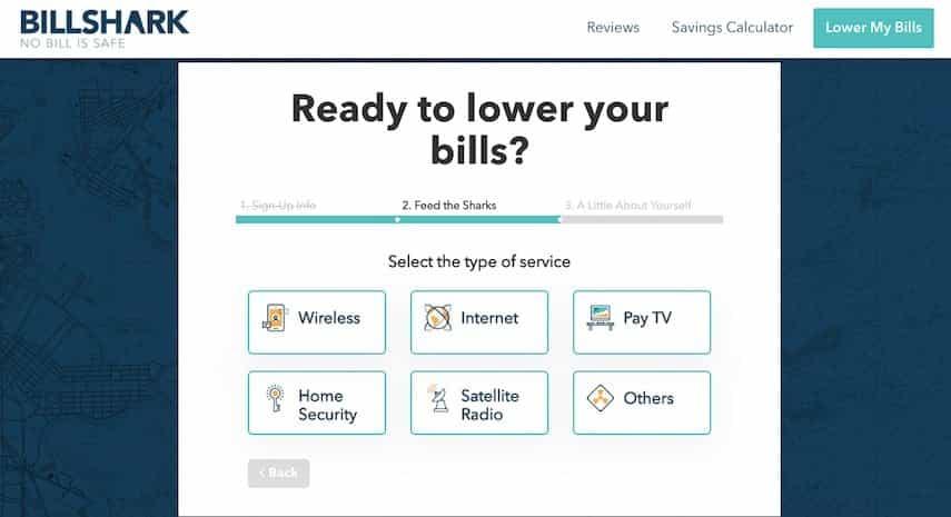 billshark review guides you how to create an account with billshark