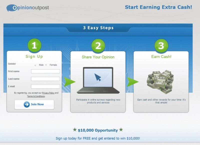 Earn Cash with Opinion Outpost