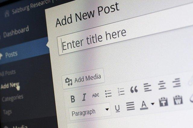 WordPress page