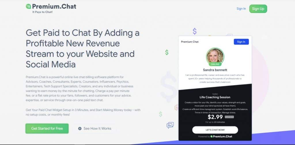 Pay Per Minute Chat Software