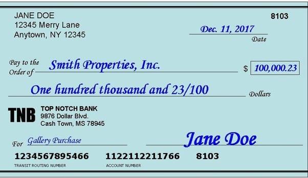 cashing a check