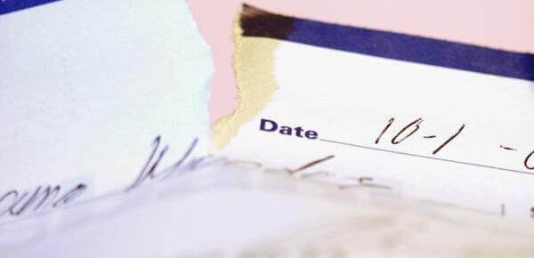 damaged check