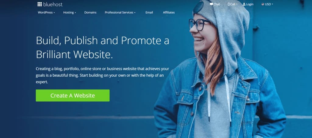 Start a niche blog with Bluehost