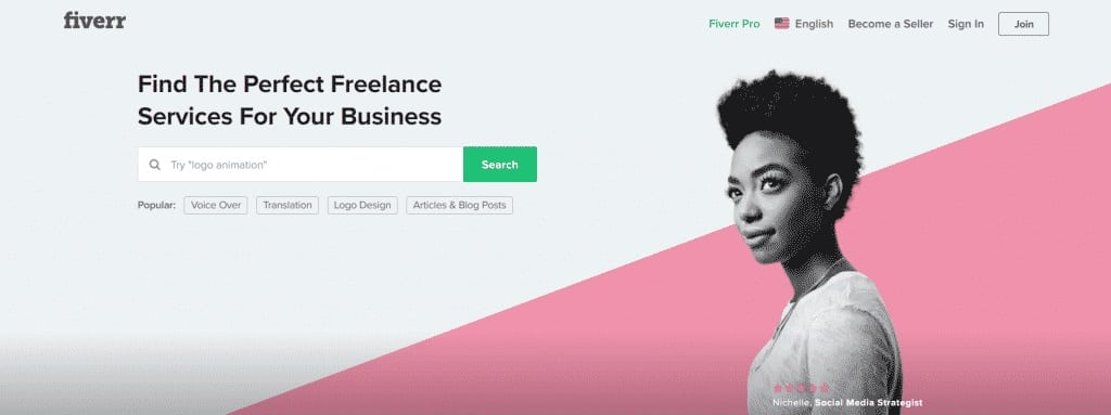 Find a freelance job on Fiverr
