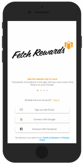 Fetch Rewards sign up