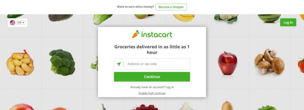 Instacart website