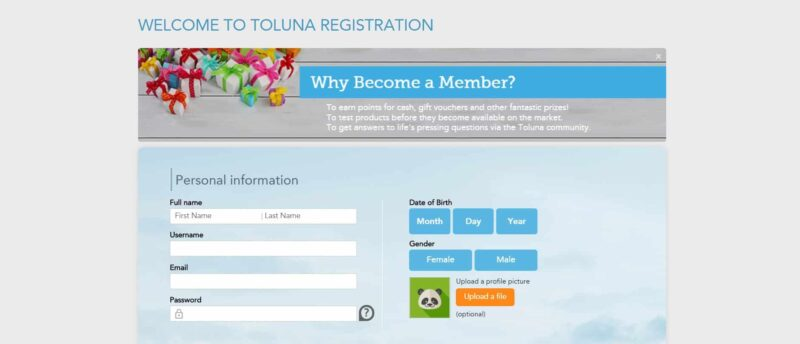 Come iscriversi a Toluna