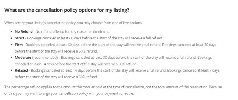 VRBO Cancellation policy