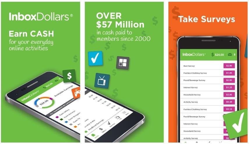 InboxDollars app