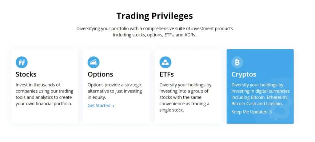 Webull investment product options
