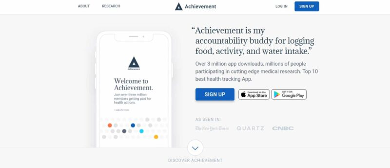 Achievement health tracking app