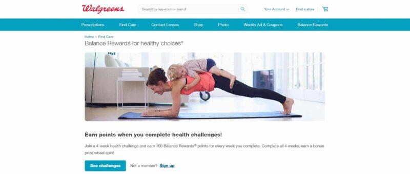 Walgreens Balance Rewards healthy choices