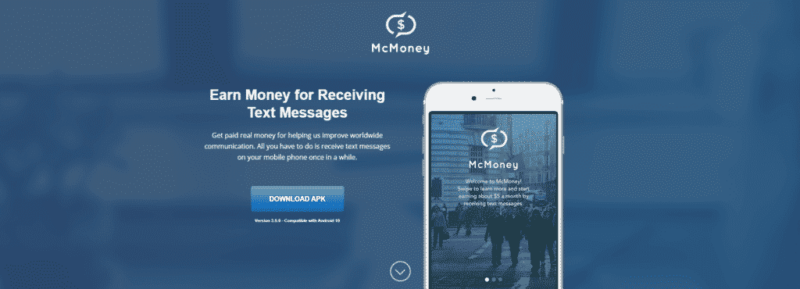 McMoney earn money with text