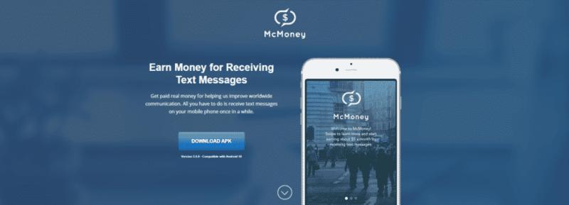 McMoney verdient geld met sms
