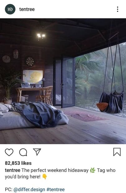 Tentree Instagram engagement
