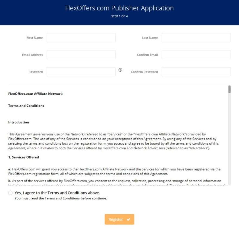 FlexOffers publisher application