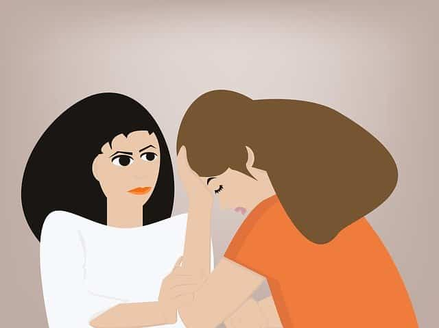 Illustration of a woman counseling