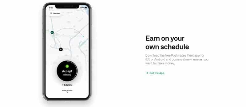 Earn on your own schedule with Postmates