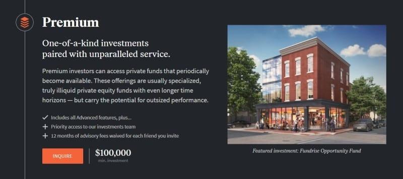 Fundrise Premium Account