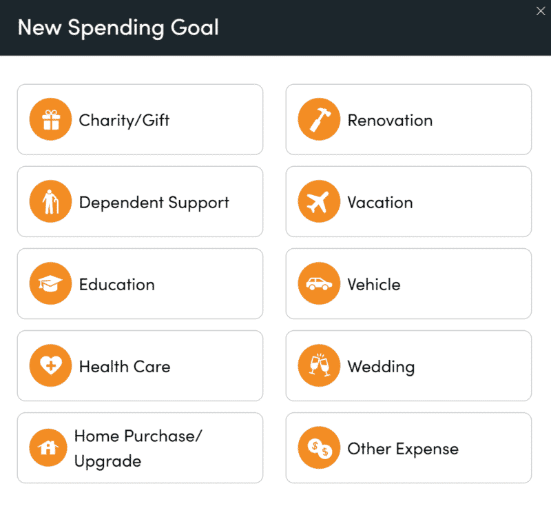 New Spending Goal Personal Capital