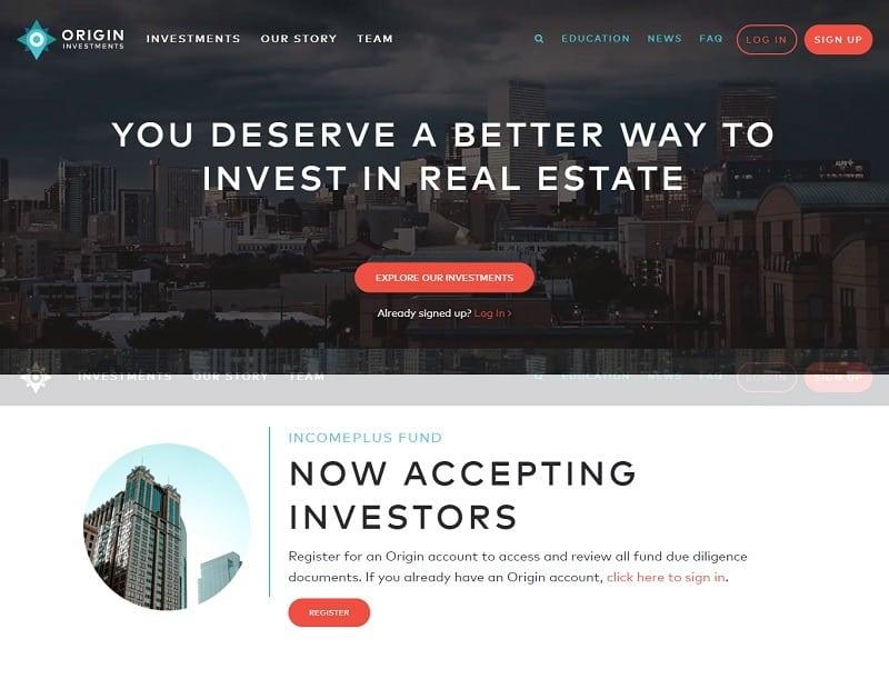 Origin Investments website