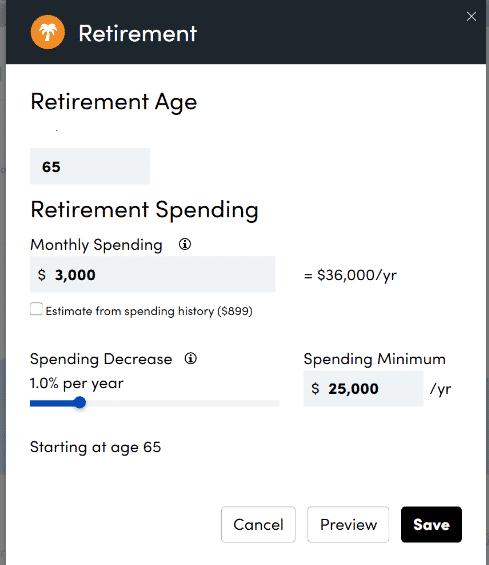 Personal Capital Retirement Calculator