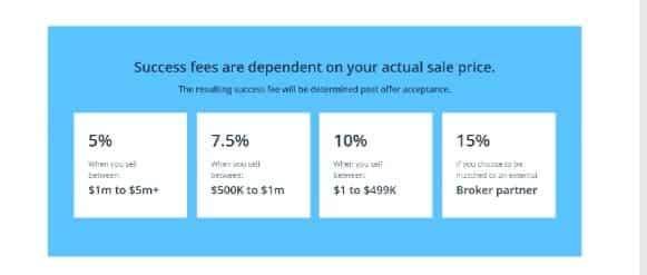 Success Fees on Flippa