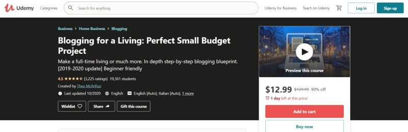 Blogging for a Living - Perfect Small Budget Project