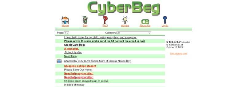 Cyberbeg Website