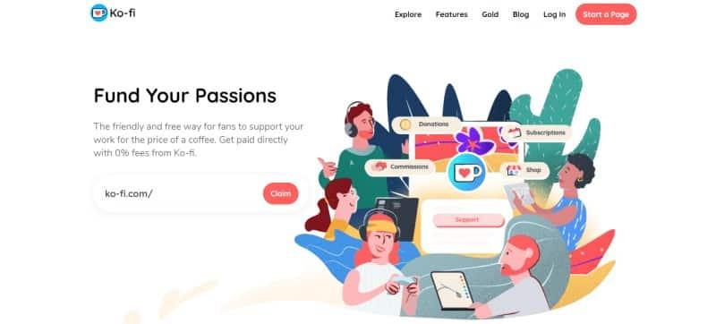Kofi website