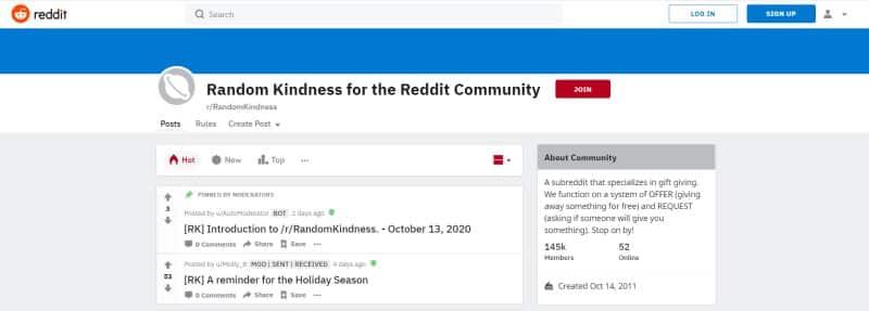 RandomKindness Reddit