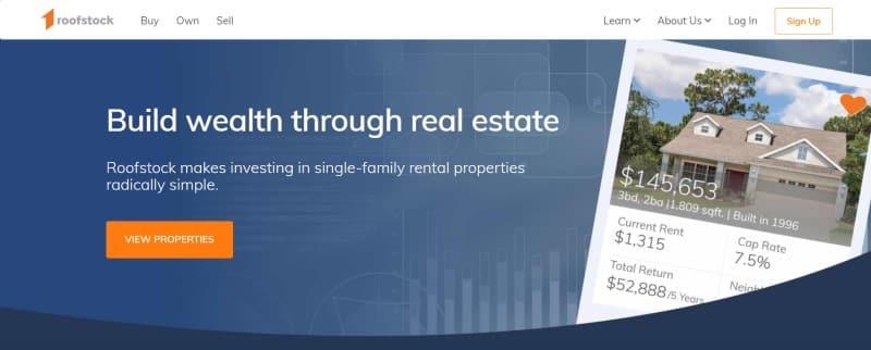 Roofstock website
