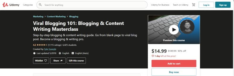 Viral Blogging 101 Udemy Course