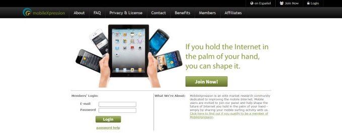 mobileXpression website