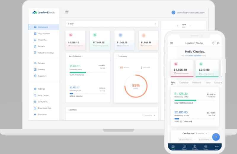Landlord Studio tracking finances