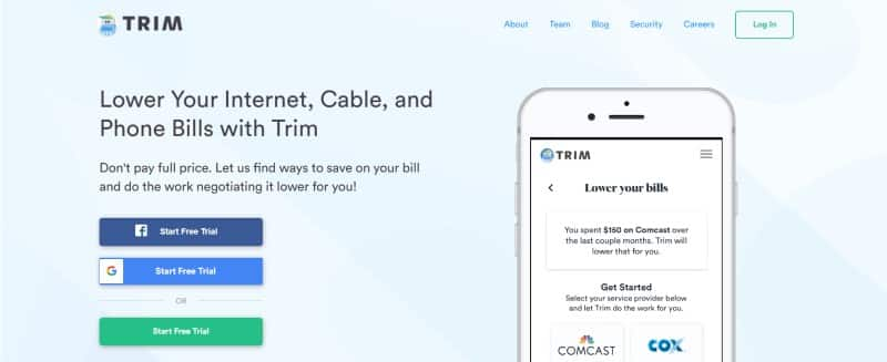Trim website