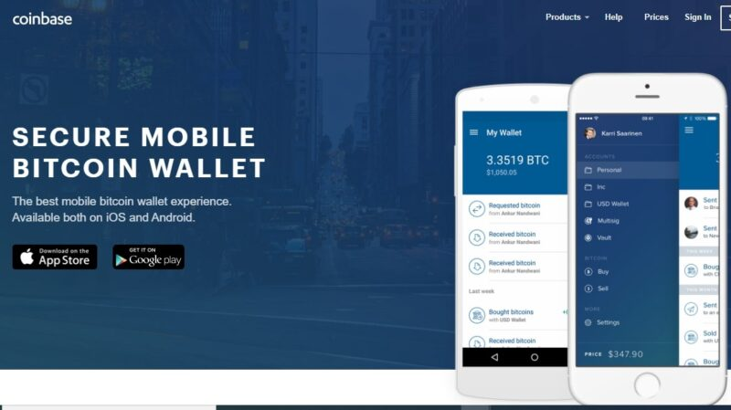 coinbase mobile wallet