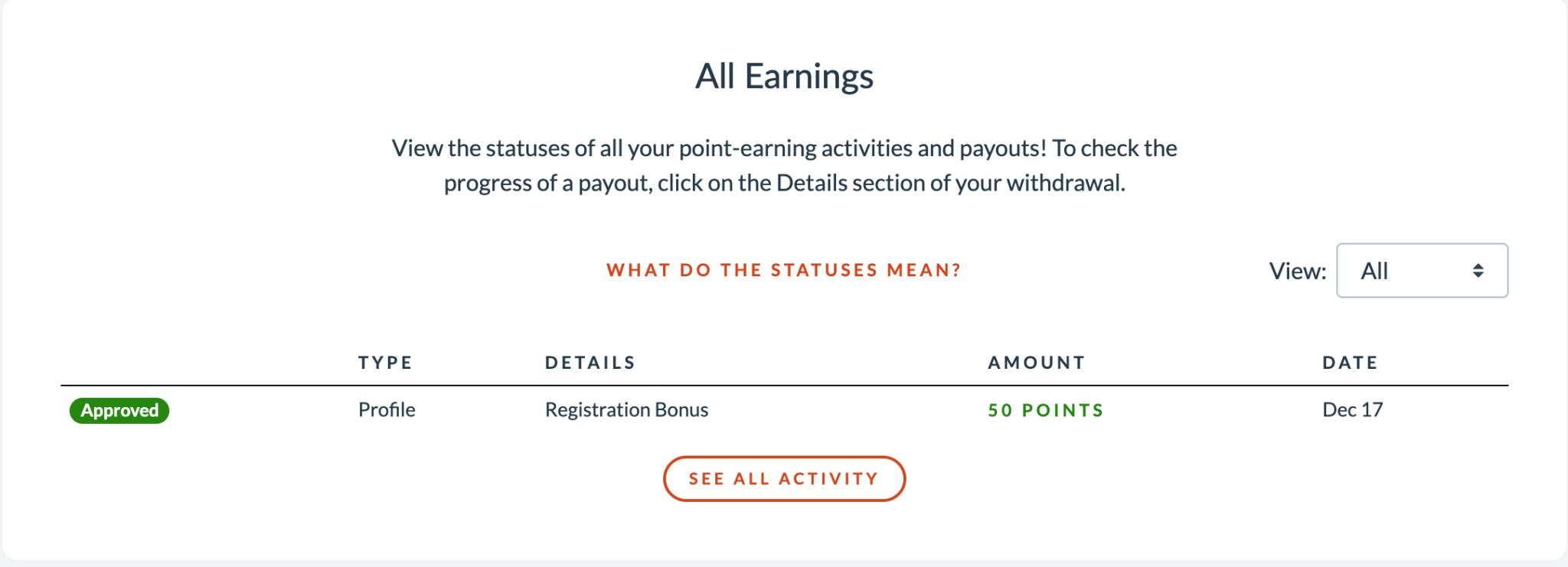 Branded Surveys Earnings