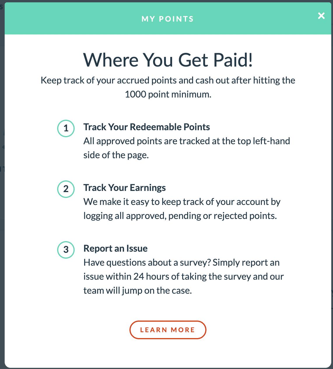 Points on Branded Surveys