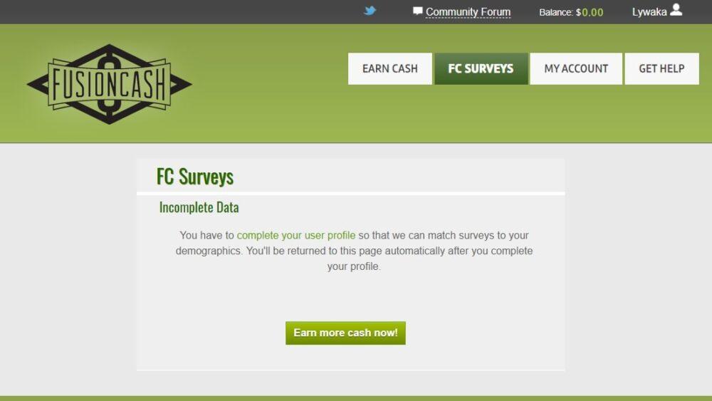 Fusioncash review - surveys