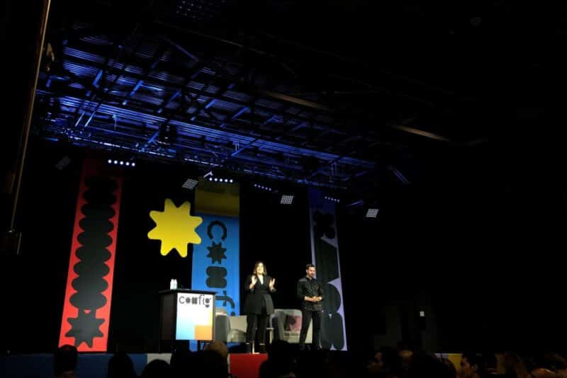 Emcees hosting an event