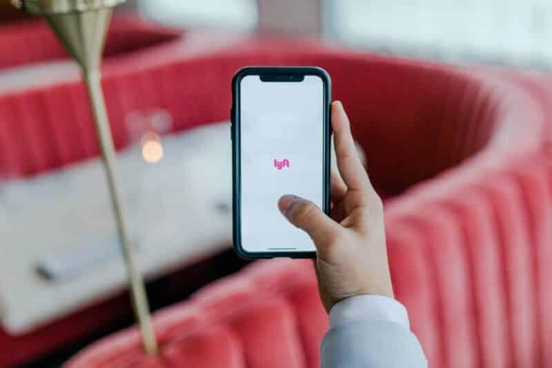 Lyft app on mobile phone
