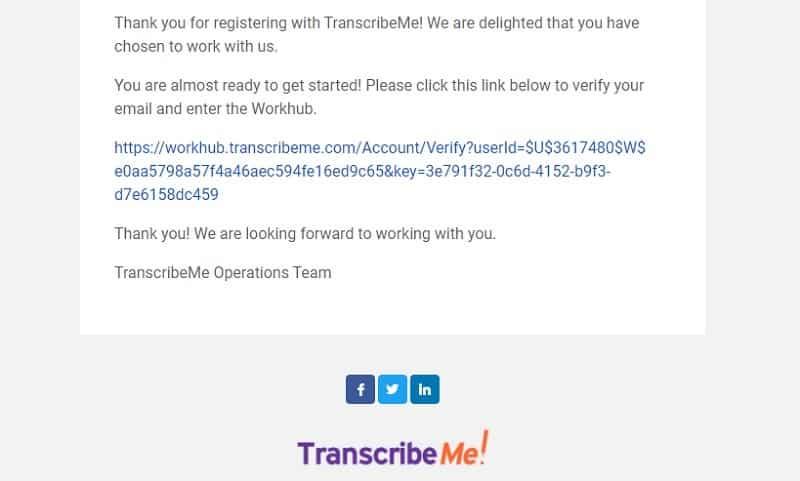 registration email