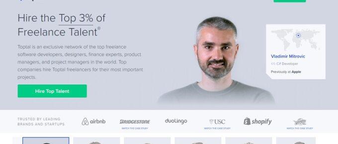 Toptal homepage