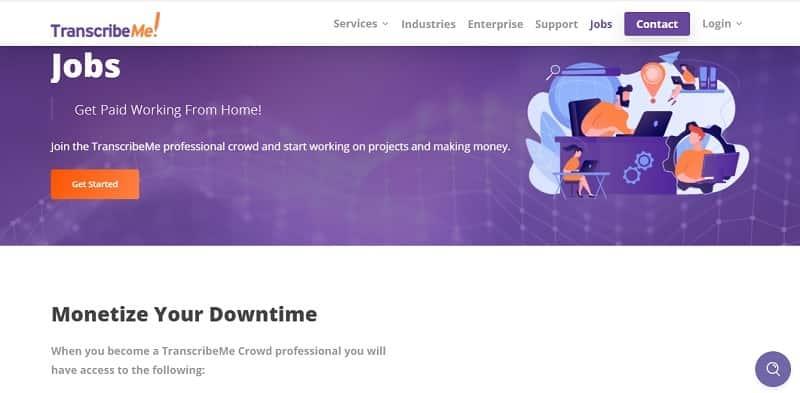 TranscribeMe jobs portal