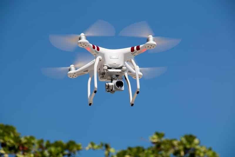 A white drone