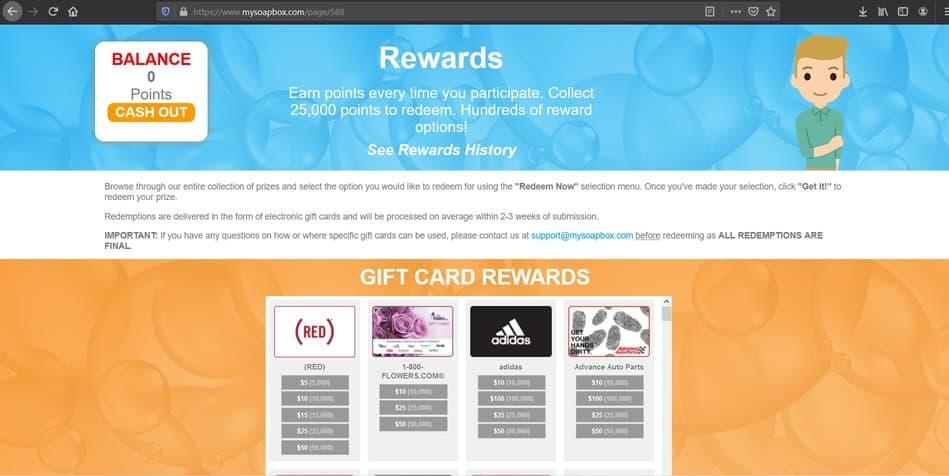 MySoapBox Gift Card Rewards